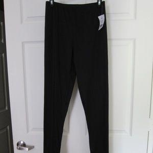 Cuddl Duds Pajama Lounge Pants Black S Tall NEW